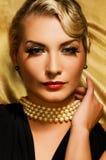 Lovely woman retro portrait Stock Photography