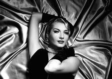 Lovely woman retro portrait Stock Photo