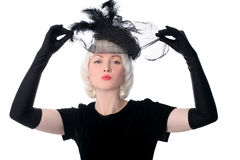 Lovely woman in retro style Royalty Free Stock Photos