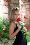 Lovely woman with rose Royalty Free Stock Photo