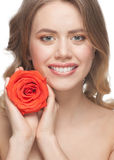 Lovely woman with rose Royalty Free Stock Photography