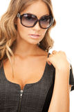 Lovely woman in shades Stock Photography