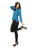 Lovely woman in shirt and trousers Stock Images