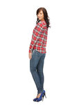 Lovely woman in shirt and trousers Royalty Free Stock Photo