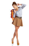 Lovely woman with shopping bag Stock Photo