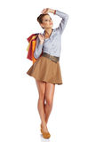 Lovely woman with shopping bag Royalty Free Stock Photo