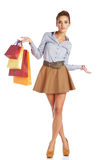 Lovely woman with shopping bag Stock Photography
