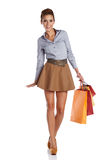 Lovely woman with shopping bag Royalty Free Stock Photography