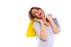 Lovely woman with shopping bags Royalty Free Stock Photos