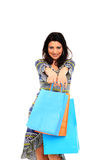 Lovely woman with shopping bags Stock Image