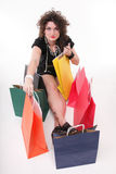 Lovely woman with shopping bags Royalty Free Stock Image