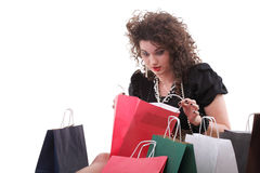 Lovely woman with shopping bags Stock Photo