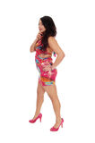 Lovely woman in short dress. Royalty Free Stock Photos