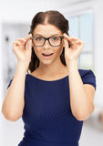 Lovely woman in spectacles Stock Images