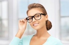 Lovely woman in spectacles Royalty Free Stock Photography