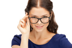 Lovely woman in spectacles Royalty Free Stock Images