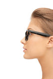 Lovely woman in spectacles Stock Image
