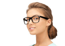 Lovely woman in spectacles Stock Photos