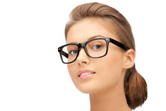 Lovely woman in spectacles Stock Photo