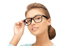 Lovely woman in spectacles Royalty Free Stock Photo