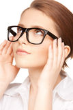 Lovely woman in spectacles Stock Photography