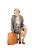 Lovely woman with suitcase Stock Photo
