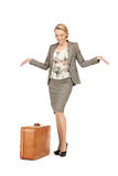 Lovely woman with suitcase Stock Image