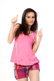 Lovely woman with thumbs up Royalty Free Stock Photo