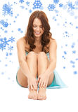 Lovely woman in towel Stock Images