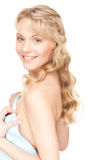 Lovely woman in towel Royalty Free Stock Images