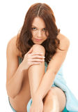 Lovely woman in towel Royalty Free Stock Photo