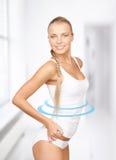 Lovely woman in white cotton underwear Stock Photo