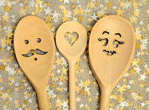 Lovely wooden spoon Stock Photos