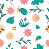 Lovely yard seamless pattern royalty free stock image