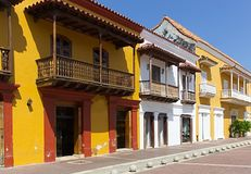 Caribbean style architecture stock image