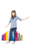 Lovely, young and adorable shopping girl Royalty Free Stock Photos