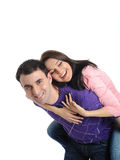 Lovely young couple having fun and smiling Royalty Free Stock Photos