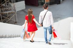 Lovely Young Couple Holding Hands royalty free stock photo