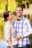 Lovely young couple outdoors Royalty Free Stock Images