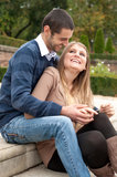 Lovely young couple in park Royalty Free Stock Photos