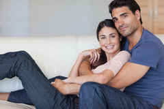 Lovely young couple posing Stock Photo
