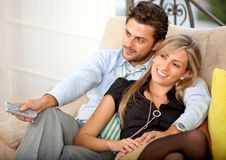 Lovely young couple relaxing Stock Photography