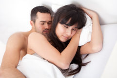 Lovely young couple sleeping Stock Photography