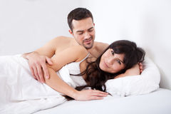 Lovely young couple sleeping Royalty Free Stock Photo