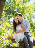 Lovely young couple in summer Royalty Free Stock Photo