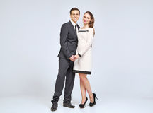 Lovely young couple wearing evening clothes Stock Image