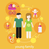 Lovely young family concept Stock Image