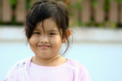 Lovely young girl. Happiness young thai girl and smiling Stock Photos