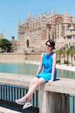 Lovely young girl in palma Stock Photos