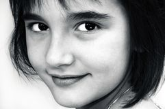 Lovely young girl portrait Royalty Free Stock Photos